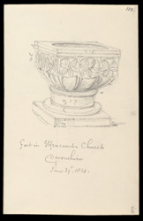 Ilfracombe Church Font, Devon, 1821